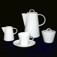 Coffee set for 6 persons, Thun 1794 Carlsbad porcelain, TOM white