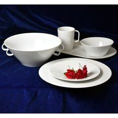Bohemia White, Dining set 26 pcs., Pelcl design, Cesky porcelan a.s.