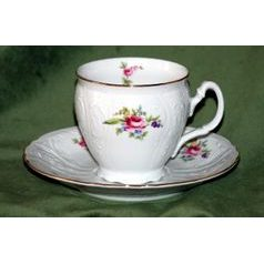 Coffee cup and saucer 220 ml / 16 cm, Thun 1794 Carlsbad porcelain