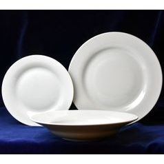 Plate set for 6 pers., Rona white, G. Benedikt 1882