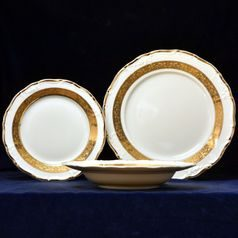 Plate set for 6 pers., Thun 1794 Carlsbad porcelain,Marie Louise 88003