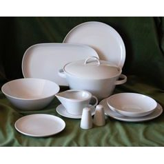 Dining set for 6 persons  plus  3 more plates FOR FREE, Thun 1794 Carlsbad porcelain, TOM white
