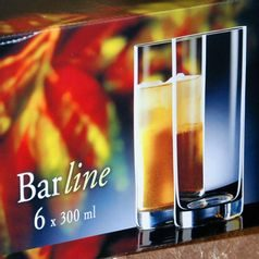 Barline 300 ml, sklenice na vodu, 6 ks., Crystalex
