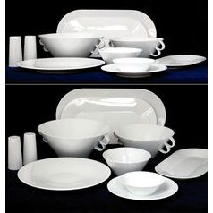 Bohemia White, Dining set for 6 persons, design by Jiri Pelcl, Cesky porcelan a.s.