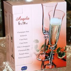 Angela 190 ml, Glass / Champaigne, 6 pcs., Bohemia Crystalex
