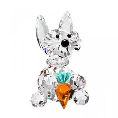 Little Hare with Carrot 49 x 29 mm, Crystal Gifts and Decoration PRECIOSA
