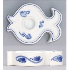 Candle holder Fish 9,2 x 7 cm, Original Blue Onion Pattern