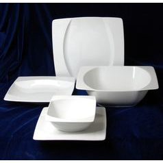 EYE white, Dining set 25 pcs., Thun 1794 Carlsbad porcelain