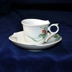 Cup espresso 80 ml  plus  saucer 120 mm, Meissen porcelain
