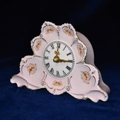 Clock fireplace 20 x 13 cm, Lenka 527, Rose China Chodov