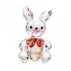 Hare with bow (rosa) 40 x 23 mm, Crystal Gifts and Decoration PRECIOSA