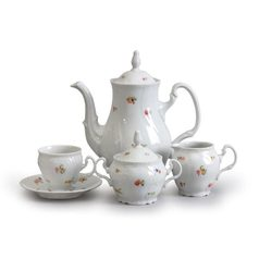 Coffee set for 6 persons, Thun 1794, porcelain, BERNARDOTTE hazenka