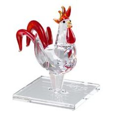 Rooster (Chinese Zodiac) 75 x 75 mm, Crystal Gifts and Decoration PRECIOSA