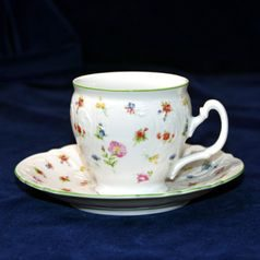 Coffee cup and saucer 220 ml / 16 cm, Thun 1794 Carlsbad porcelain, Bernadotte 7570a57