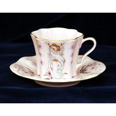 Cup and saucer mocca 0,08 l, Olga 585 Mucha, Rose China