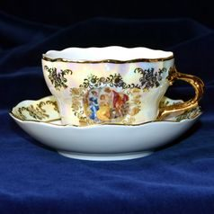 Cup  plus  saucer D 0,4 l / 18,2 cm, The Three Graces  plus  gold, Frederyka Carlsbad