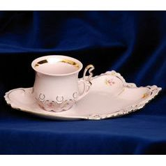 Cup and saucer TV, Lenka 247, Rose China