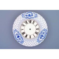 Clock embossed 24 cm  plus  clockwork, Original Blue Onion Pattern