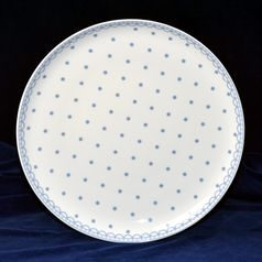 Plate dining 26 cm, Tom 30357a0 blue, Thun 1794 Carlsbad porcelain