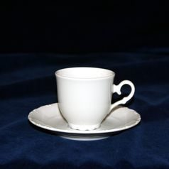 Cup 120 ml  plus  saucer 140 mm, Ophelie white, Moritz Zdekauer 1810