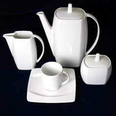 EYE white, Coffee set for 6 pers., Thun 1794 Carlsbad porcelain