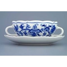 Cup and saucer soup 0,25 l / 17,5 cm, Original Blue Onion Pattern
