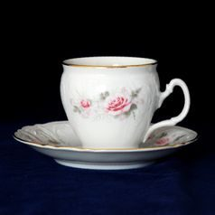 Coffee cup and saucer 220 ml / 16 cm, Thun 1794 Carlsbad porcelain, Bernadotte 5396011