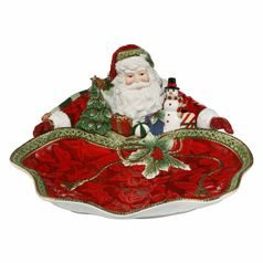 Fitz and Floyd: Bowl Santa presents 35 x 15,5 cm, Goebel porcelain
