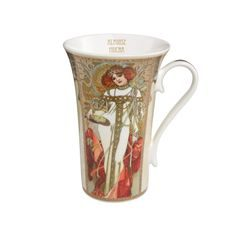 Mug Autumn / Winter, 15 cm, Porcelain, A. Mucha, Goebel Artis Orbis