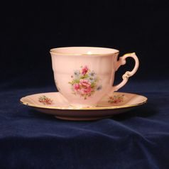 Cup 140 ml and saucer coffee, Leander, rose china