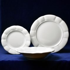 Plate set for 6 pers. 26,24,19, Benedikt white, G. Benedikt 1882