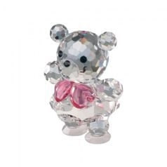 Baby Bear (pink) 34 x 25 mm, Crystal Gifts and Decoration PRECIOSA