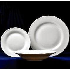 Verona white: Plate set big for 6 pers., G. Benedikt 1882