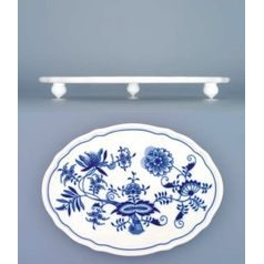 Board oval footed 24,5 cm, Original Blue Onion Pattern