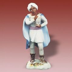 The King Balthazar, 7 x 7,3 x 17,5 cm, Biskvit + Saxe, Porcelain Figures Duchcov