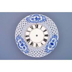 Clock perforated 24 cm  plus  clockwork, Original Blue Onion Pattern