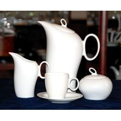 Coffee set for 6 persons, Future white, Thun 1794, Carlsbad porcelain, FUTURE