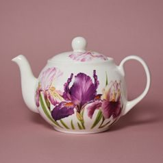 Iris: Teapot 1,2 l, English Fine Bone China, Roy Kirkham
