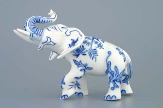 Elephant 18 cm, Original Blue Onion Pattern