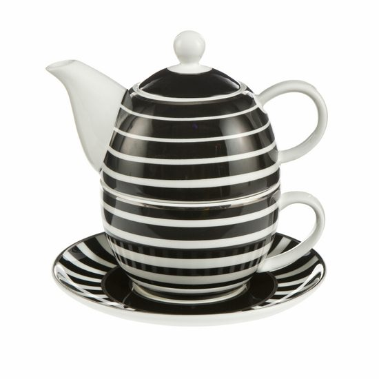 Tea for one set Stripes, porcelain, Château, Goebel Artis Orbis