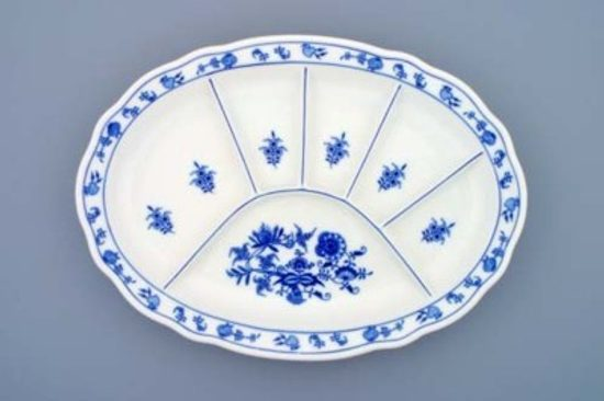 Plate parties 34,8 x 25 cm, Original Blue Onion Pattern