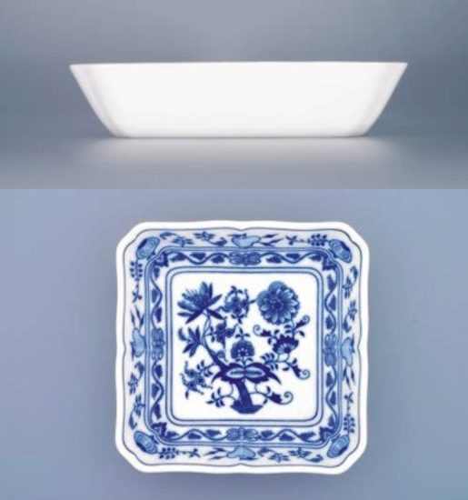 Salad dish square 18 cm, Original Blue Onion Pattern