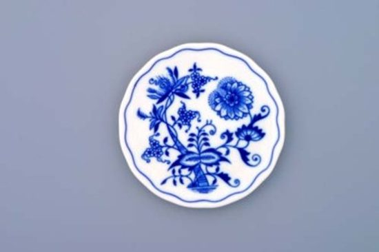 Underplate for glass 10 cm, Original Blue Onion Pattern