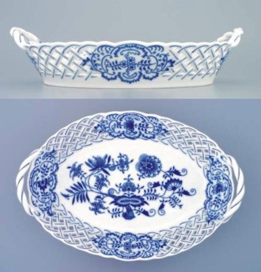 Basket perforated 28 cm, Original Blue Onion Pattern
