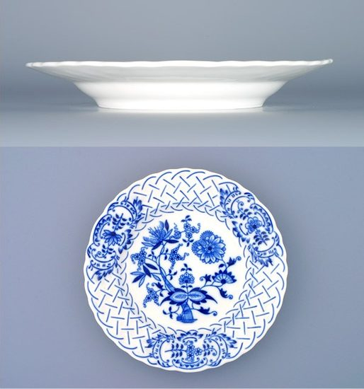 Plate embossed 18 cm, Original Blue Onion Pattern
