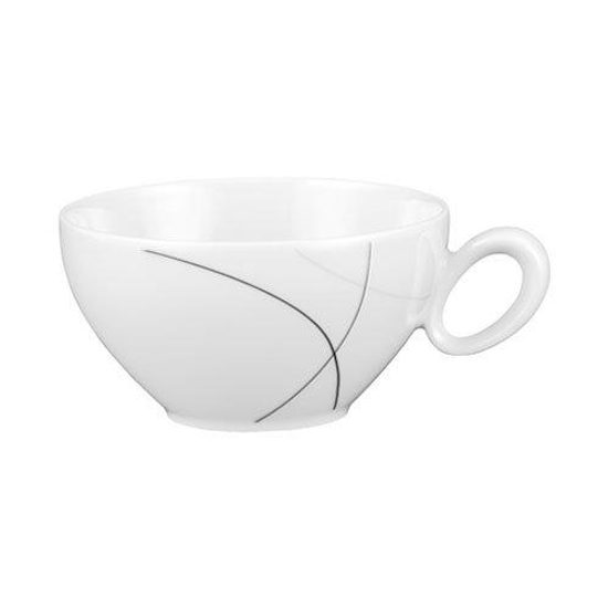Tea cup and saucer, Trio 71381 Highline, Seltmann Porcelain