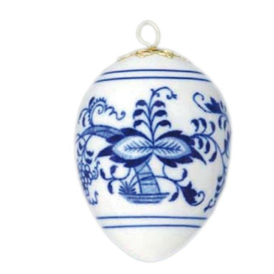 Eastern egg 5,6 x 7,5 cm, Original Blue Onion Pattern