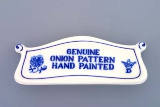 Plaque 14 cm, Original Blue Onion Pattern