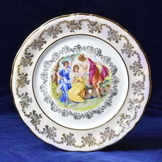 Plate dining 24 cm, The Three Graces  plus  gold, Frederyka Carlsbad