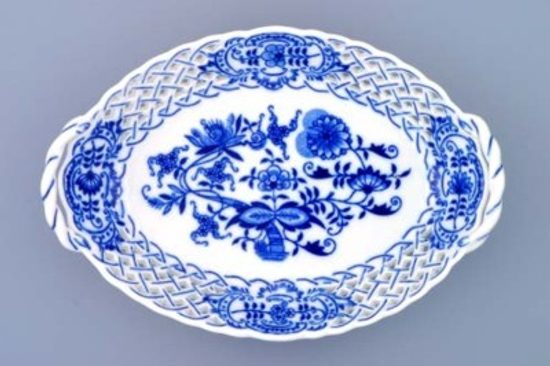 Basket perforated 21 cm, Original Blue Onion Pattern
